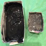 真っ黒な石鹸できた…