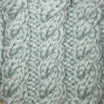 今日の模様編み 96 〜 腰回りの湿疹悪化
